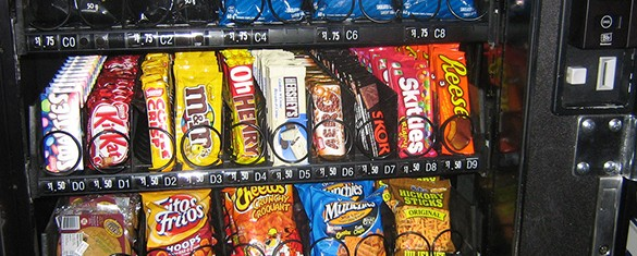 Vending machines for Snacks.